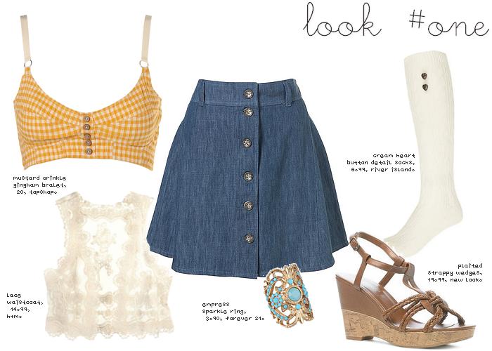 Ways to Wear: A-Line Denim Skirts