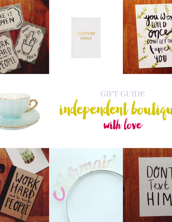 Gift Guide: From Independent Boutiques with Love