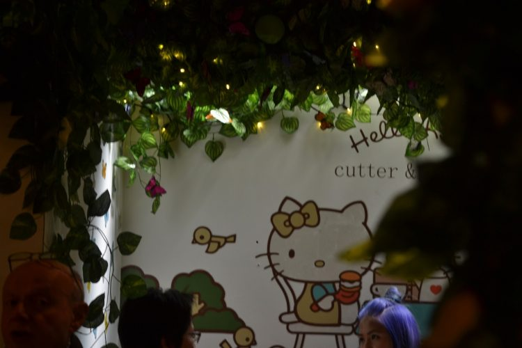 Afternoon tea at Cutter & Squidge's Hello Kitty Secret Garden.