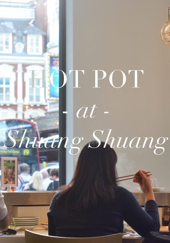 Hot pot at Shuang Shuang.