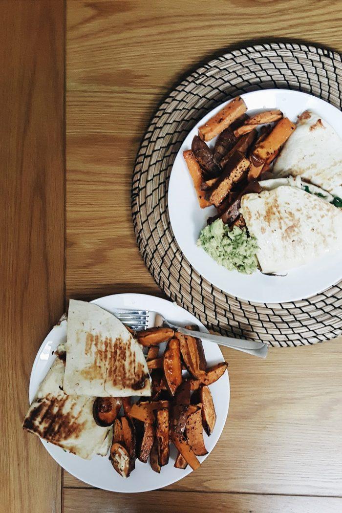 Our Sweet Potato Quesadillas
