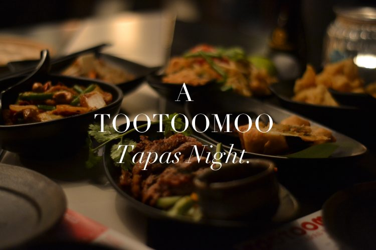 Tootoomoo's Asian tapas menu.