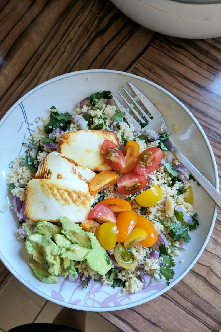 An Easy Everyday Lunch Recipe: Rainbow Couscous Salad