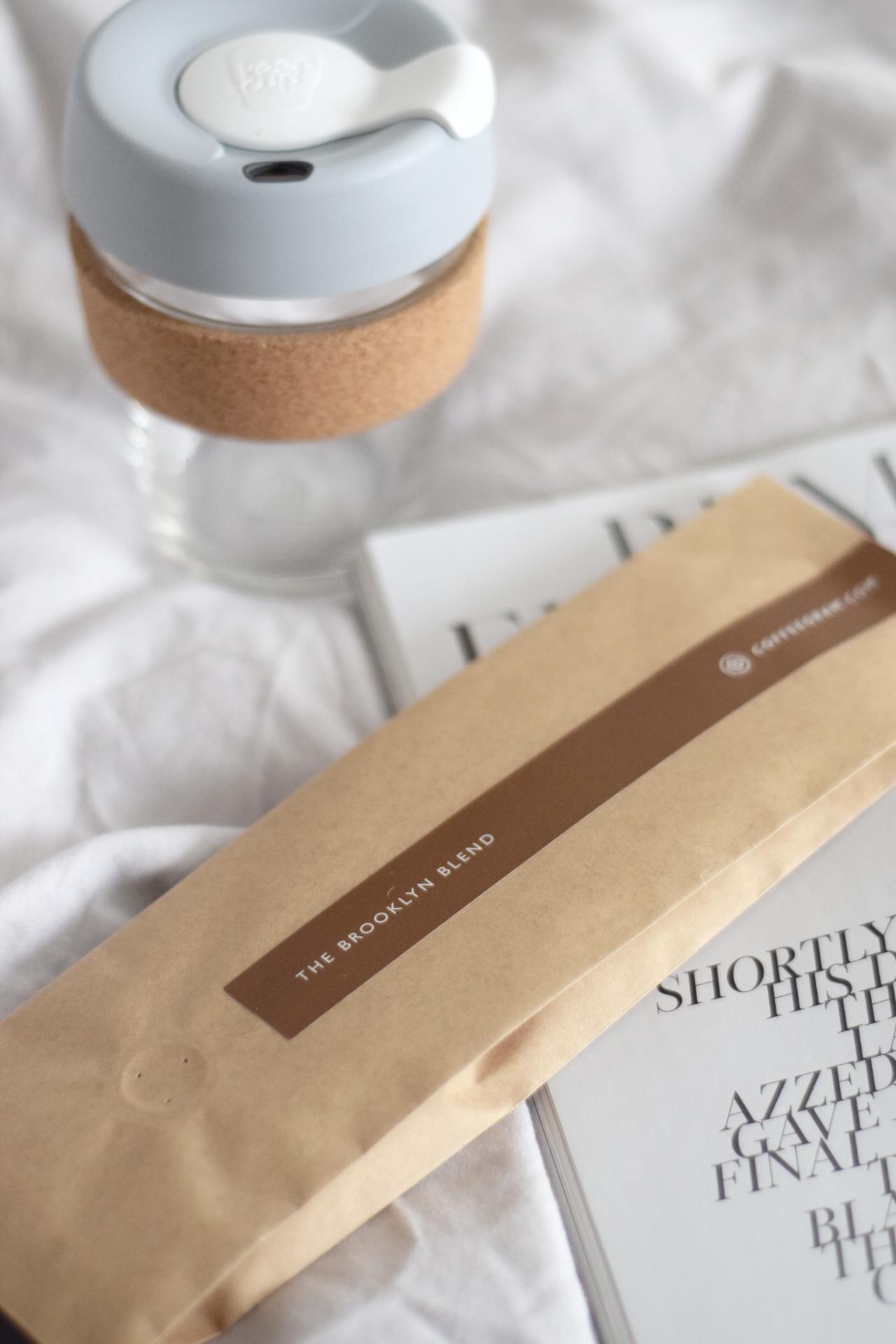 Coffeegram flat lay