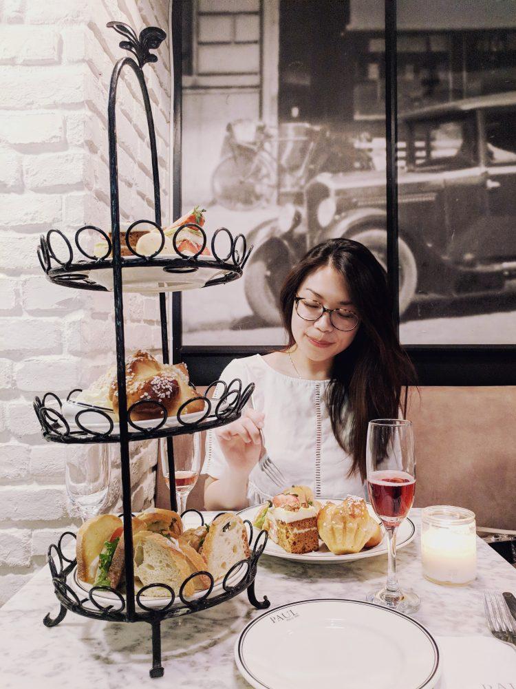 Afternoon tea at PAUL