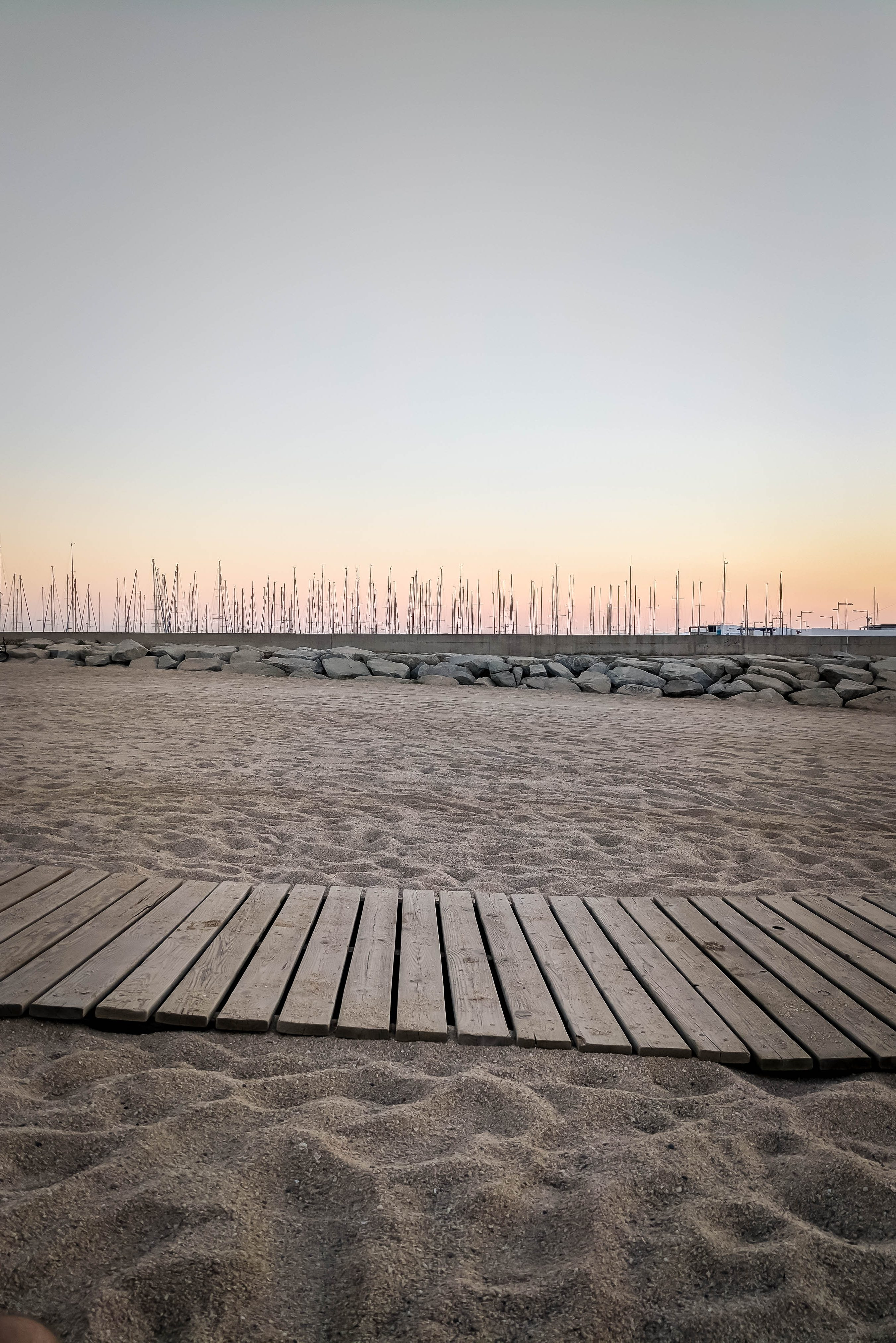 Spanish beach sunset