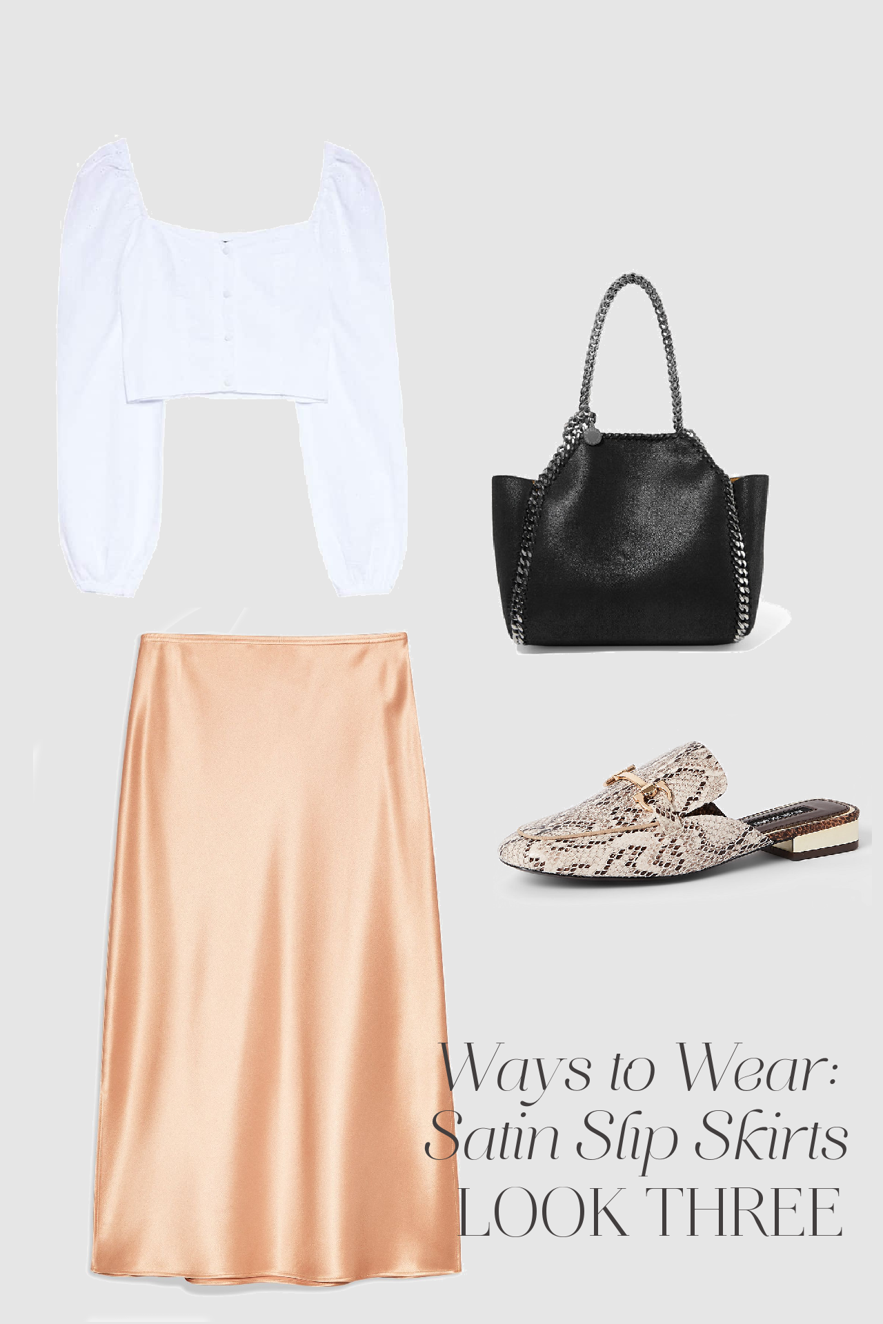 3 ways to wear satin slip skirts SS19
